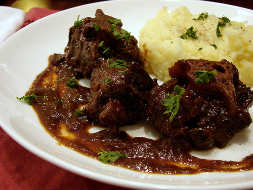 Oxtails with Port and Porcini Sauce