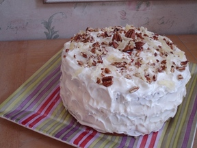 Happy Hummingbird Cake with Coconut & Rum Cream Cheese Frosting