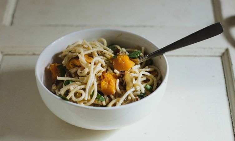 Goat Cheese Pasta with Caramelized Onions and Roasted Butternut Squash ...