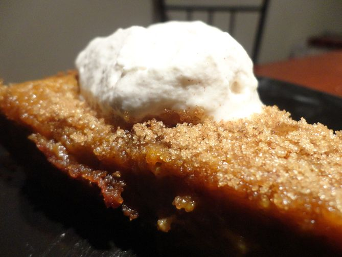 Pumpkin Pie with Gingersnap Crust and Cinnamon Whipped Cream Recipe on ...