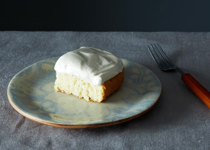 Grandma's White Cake with Maple Syrup Frosting Recipe on Food52