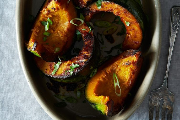 Dashi braised kabocha from Food52