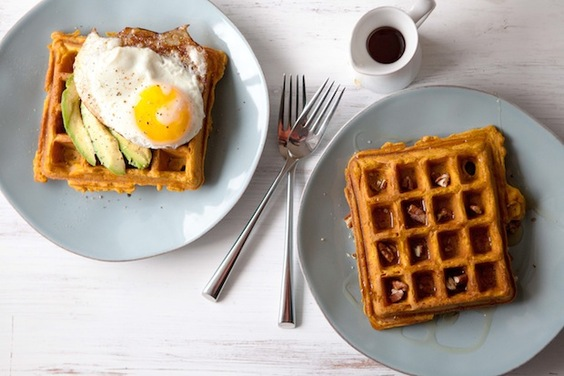 Sweet Potato Waffles, Sweet or Savory