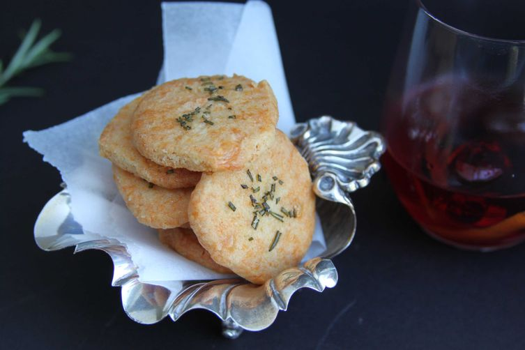 Cheese Sables with Rosemary Salt