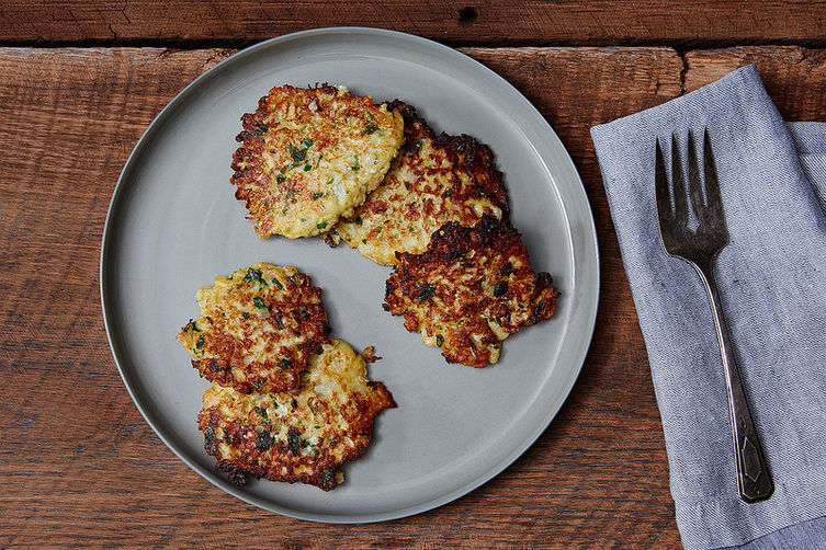 Cauliflower patties from Food52
