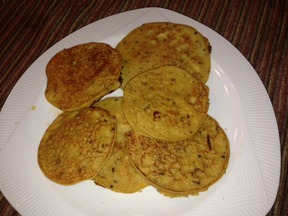 Acorn squash Indian pancakes