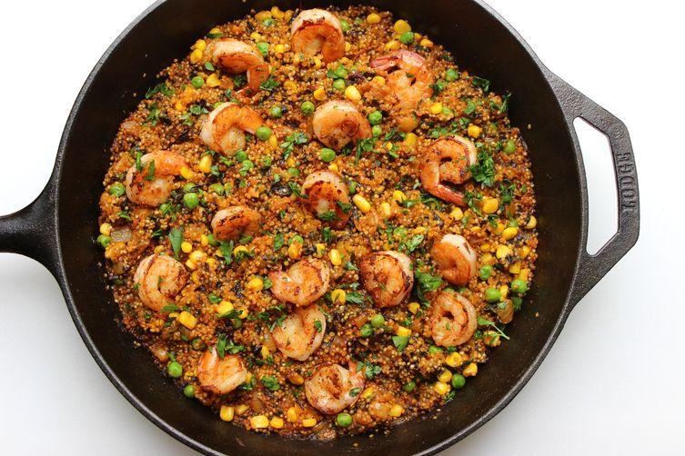 SHRIMP AND QUINOA PAELLA Recipe on Food52