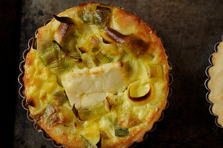 Leek, Lemon, and Feta Quiche