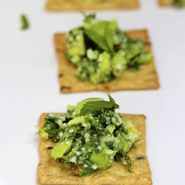 Fava-bean-mash-on-cracker