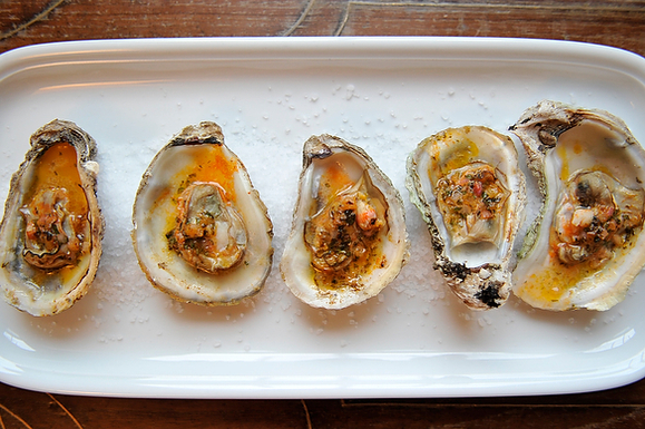 sriracha oysters