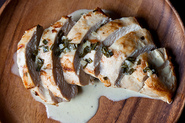 Chicken Breast with cream of herb sauce