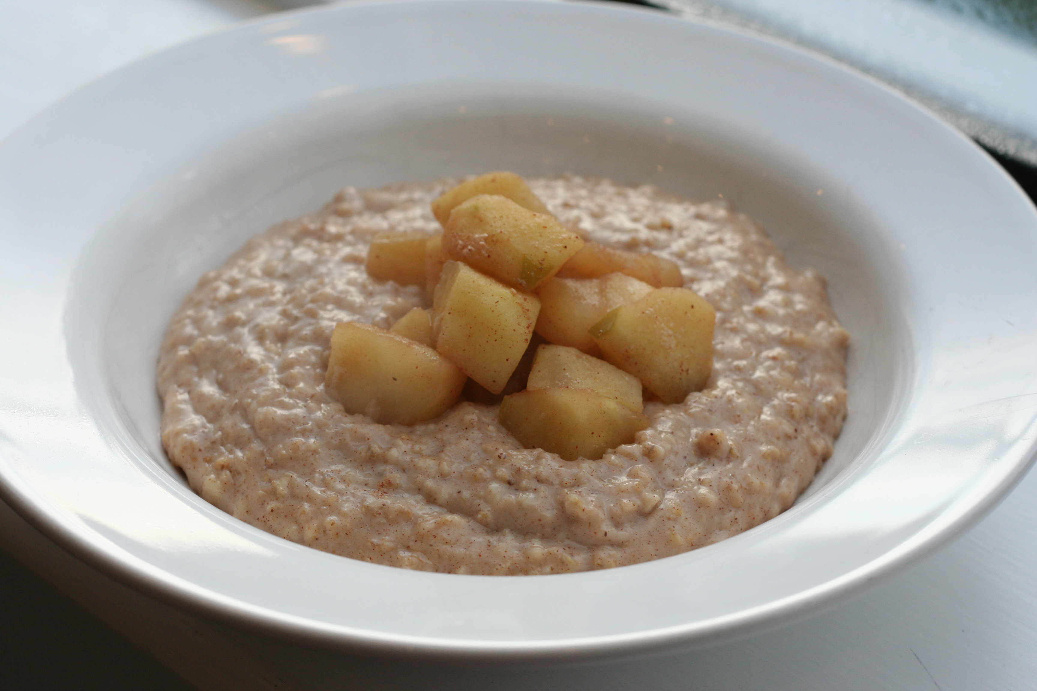 Chai-spiced Porridge with Stewed Apples