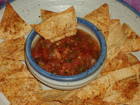 Salsa Pronto with Baked Tortilla Chips