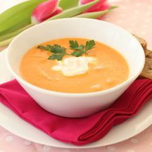 Roasted Tomato Soup with Chipotle Cream