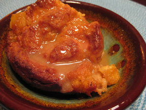 Double Caramel Pineapple Bread Pudding