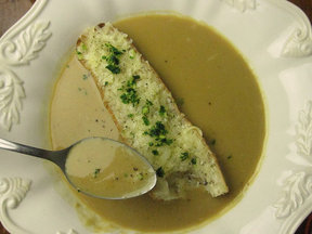 Garlic Soup With Gruyere &quot;Crouton&quot;