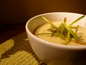 Braised Leek and Bacon Bisque