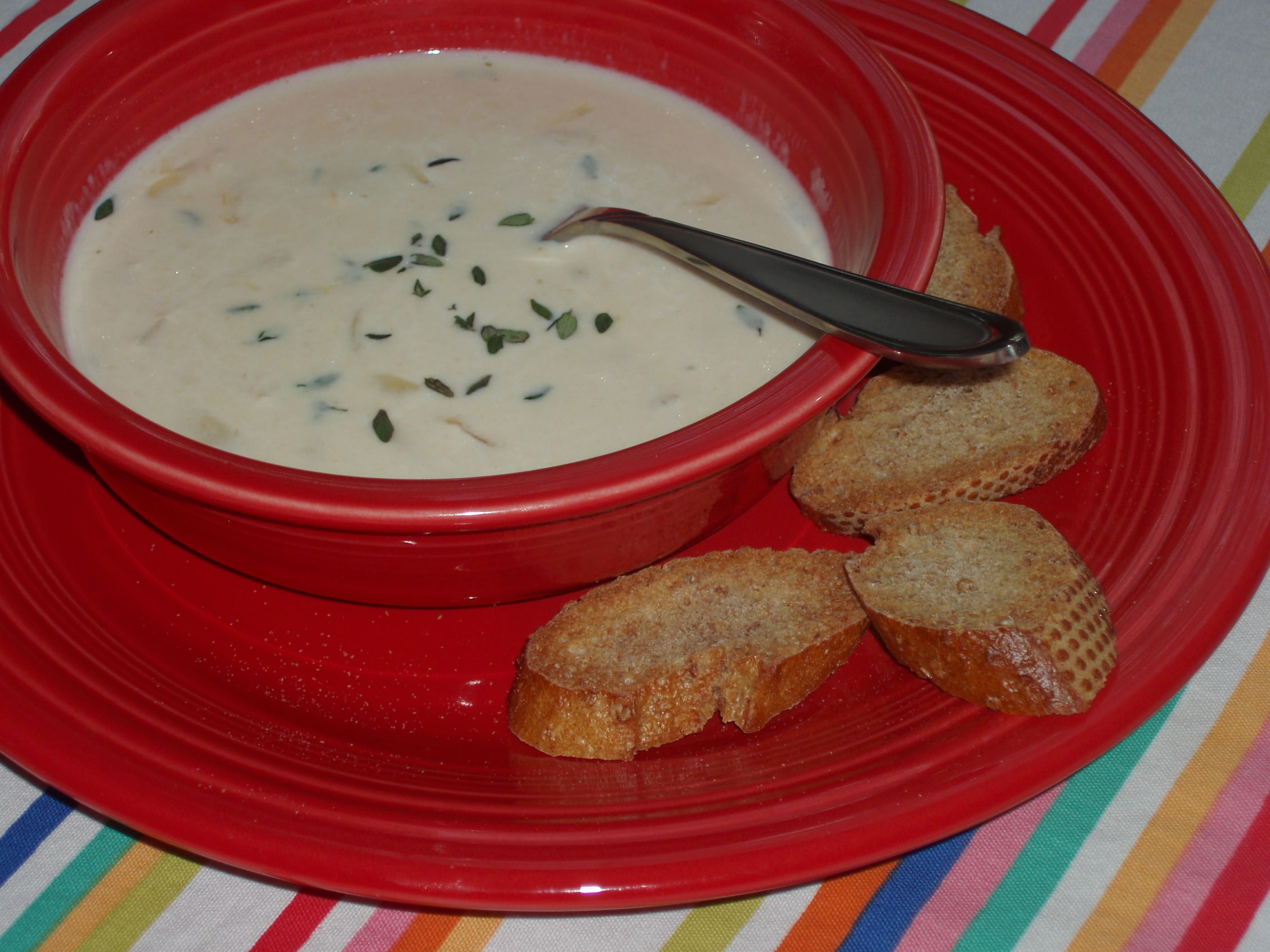 Roasted Garlic and Gruyere Soup