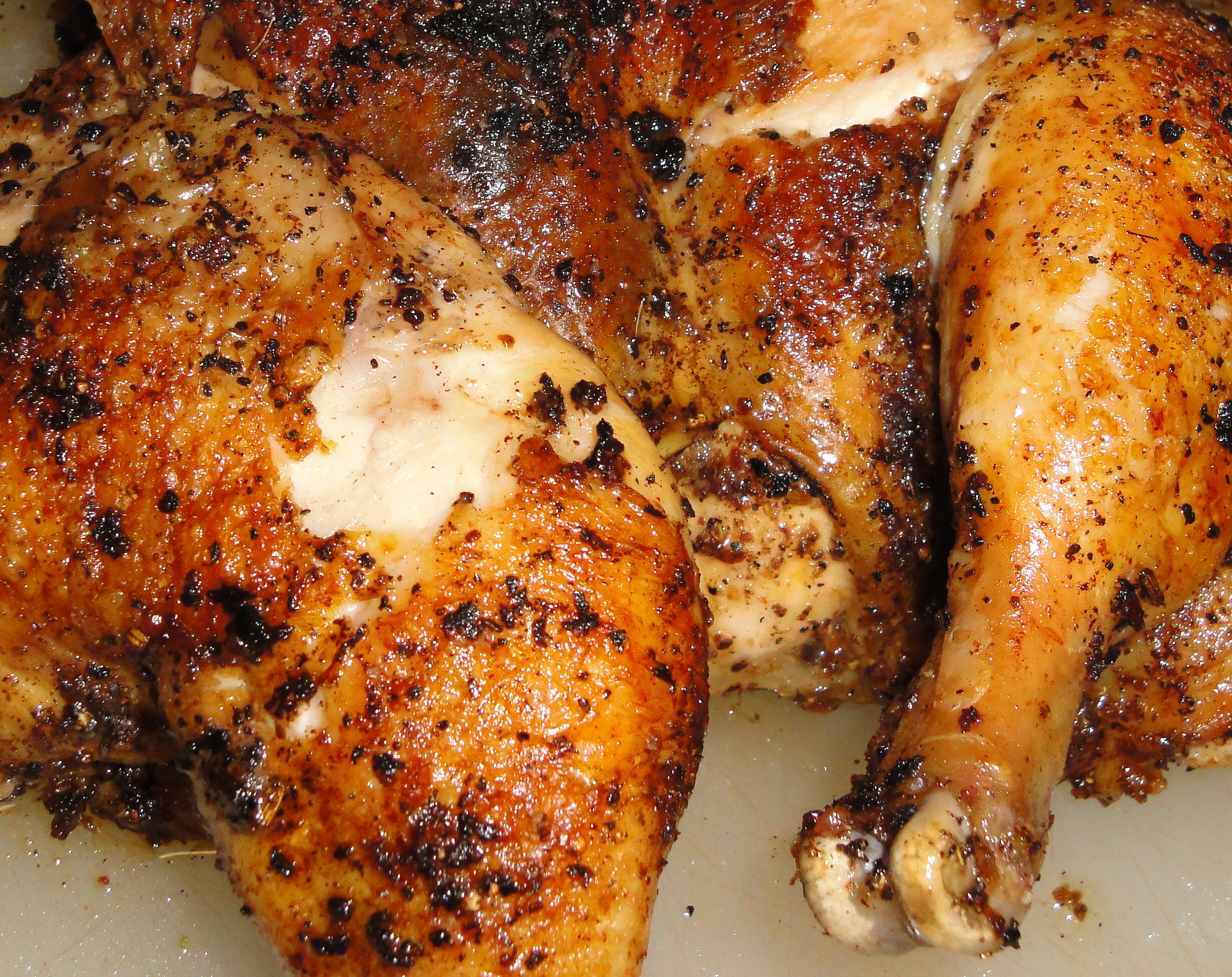 Porcini Rubbed Butterflied Roasted Chicken