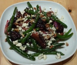 Beet_green_bean_salad
