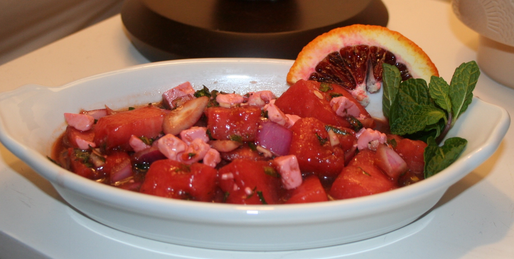Watermelon, Feta and Mint Salad with Blood Orange Vinaigrette recipe ...