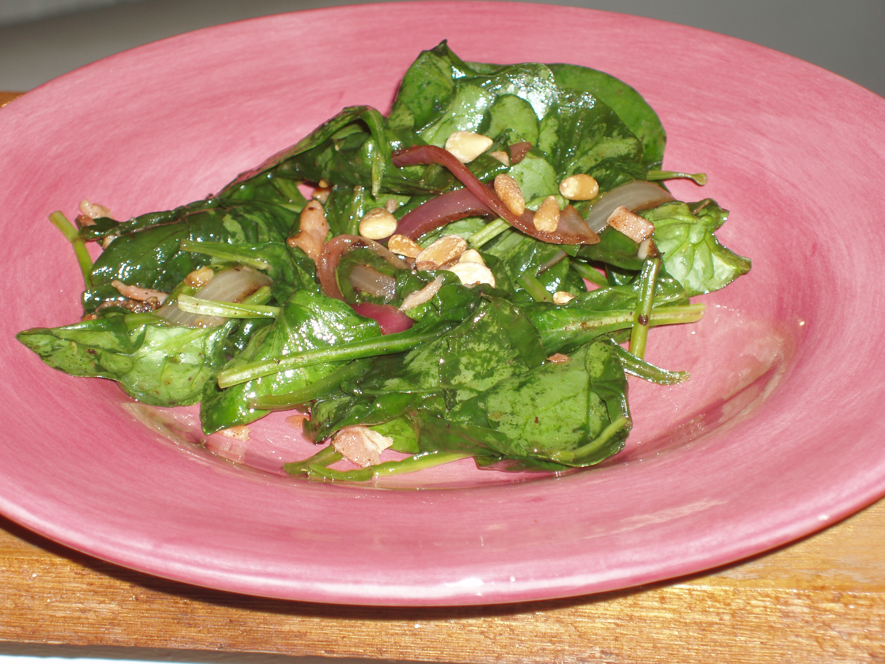 Wilted Spinach Salad Nancy's Way
