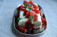 Ricotta, Feta and Mint Layers with Honeyed Blood Oranges