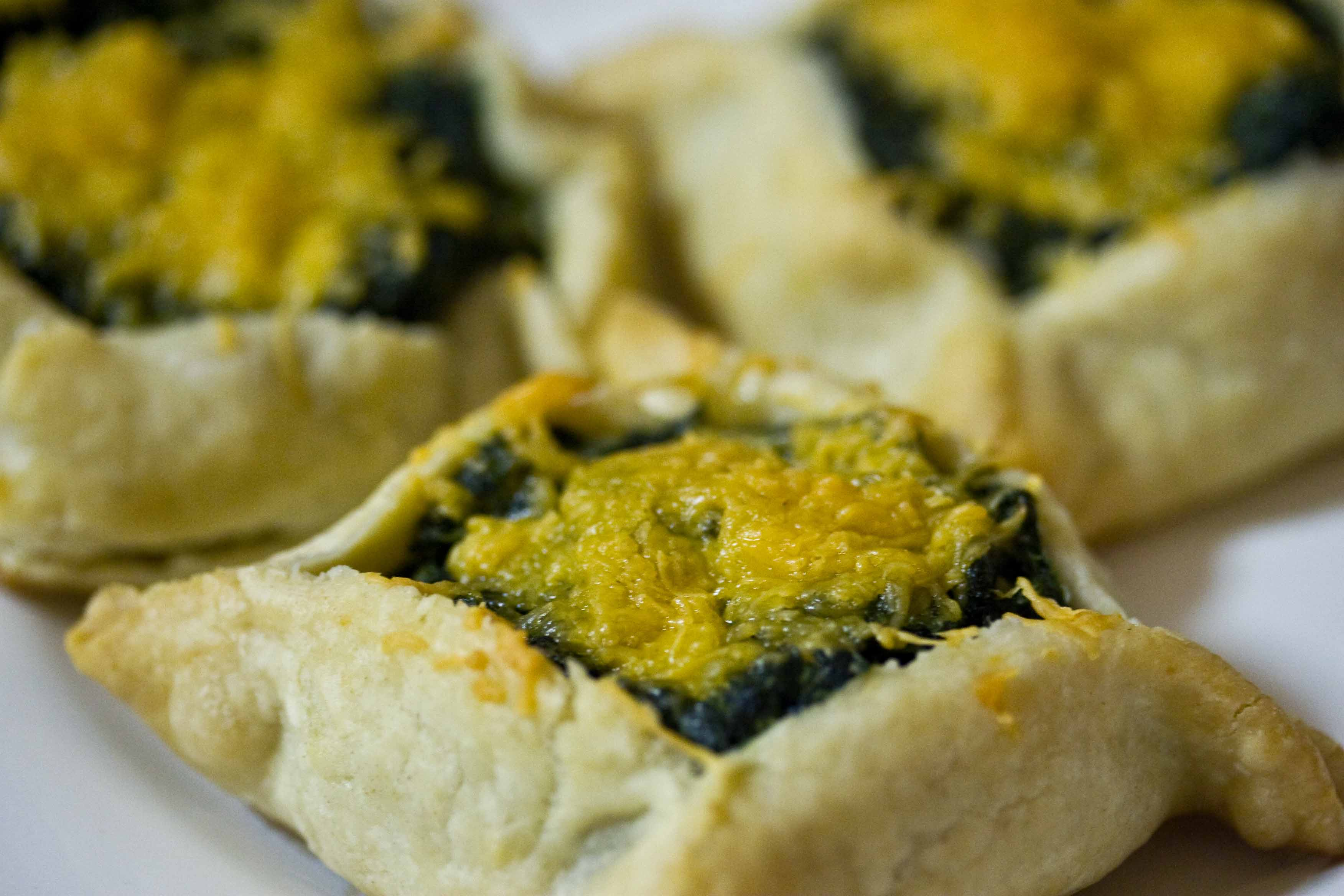 Triple Cheese Spinach Tarts