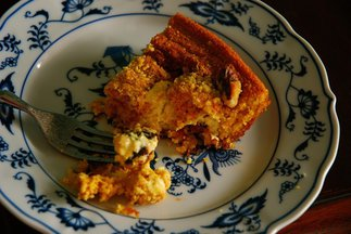 Rustic Polenta Cake with Ricotta and Prune Filling