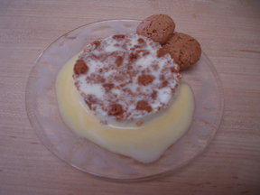 Amaretti Panna Cotta with Amaretto Custard