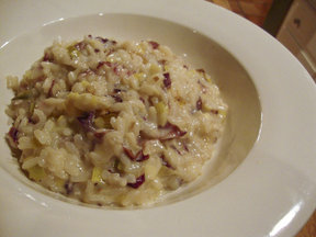 Leek_radicchio_and_fontina_risotto