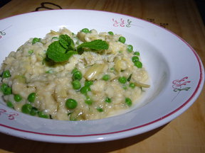 Artichoke, Pea and Mint Risotto