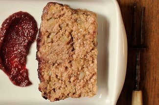 Meatloaf with Blackberry Barbecue Sauce