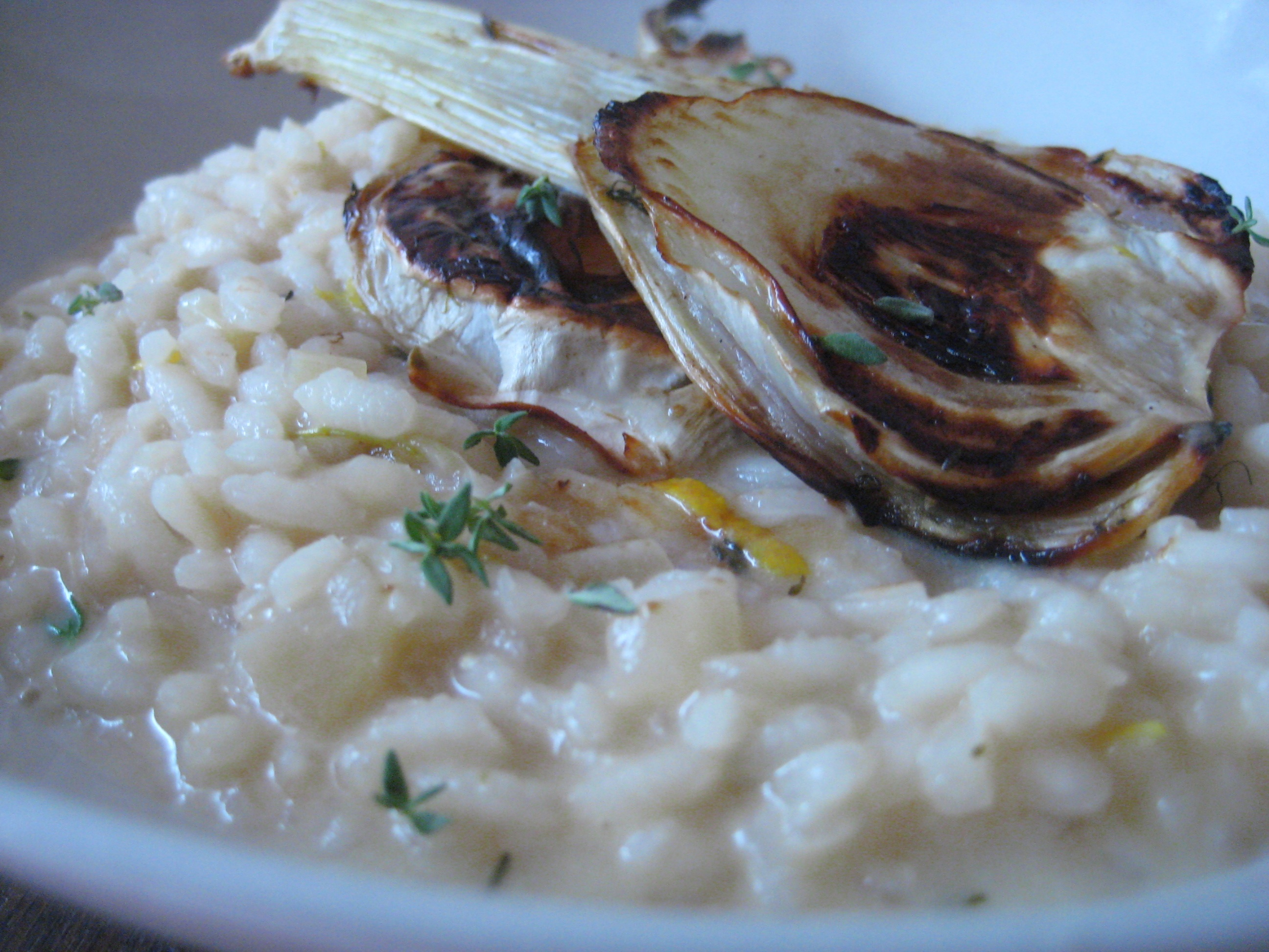 Lemon &amp; fennel risotto