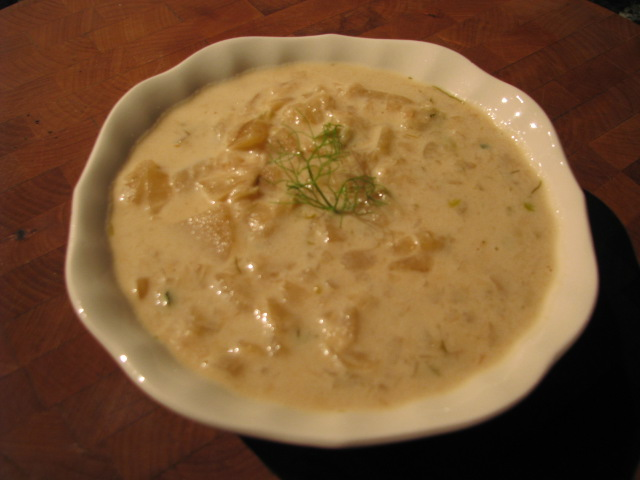 Caramelized Fennel-Potato Soup