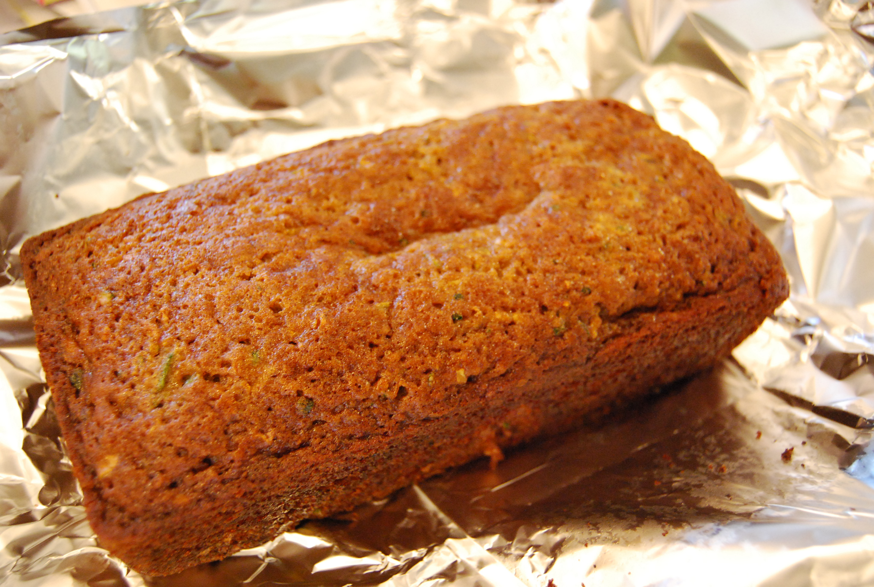 Zucchini Applesauce Bread