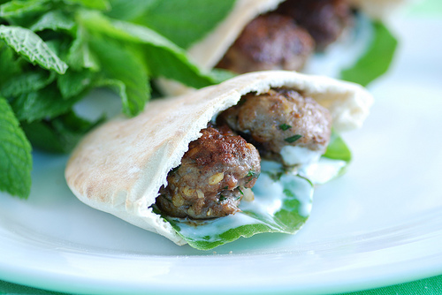 Kofta Pocket with Tzatziki Sauce