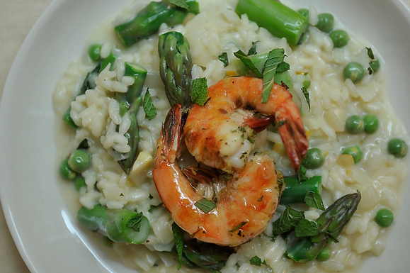 ... Vegetable Risotto with Grilled Pernod Shrimp recipe on Food52.com