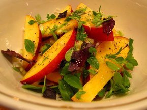 Nectarine and basil salad