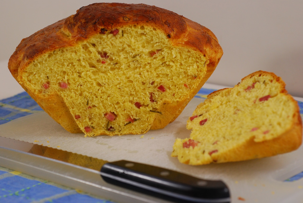 Savory Saffron Brioche with Rosemary and Vermont Ham