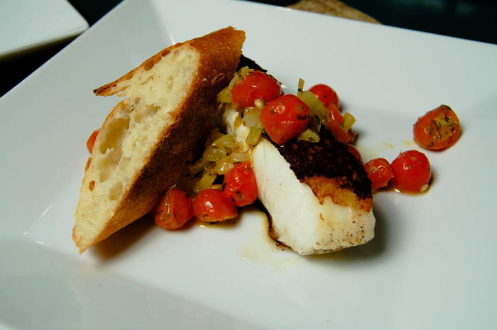 Chilean Sea Bass w/ Grape Tomato Salsa