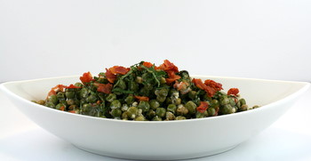 Peas with Pancetta, Mint and Crème Fraiche
