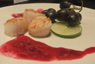 Scallops Lime and Vine
