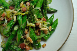Spring vegetable dishes