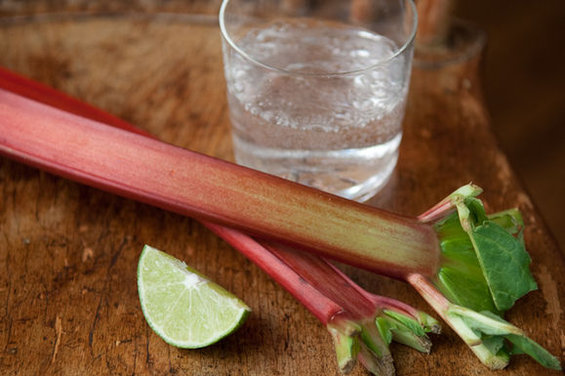 rhubarb lime spritzer