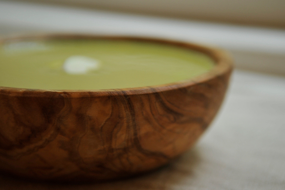 Cream of Asparagus Soup with Yogurt and Tarragon