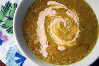 Red Lentil Soup with Harissa Yogurt