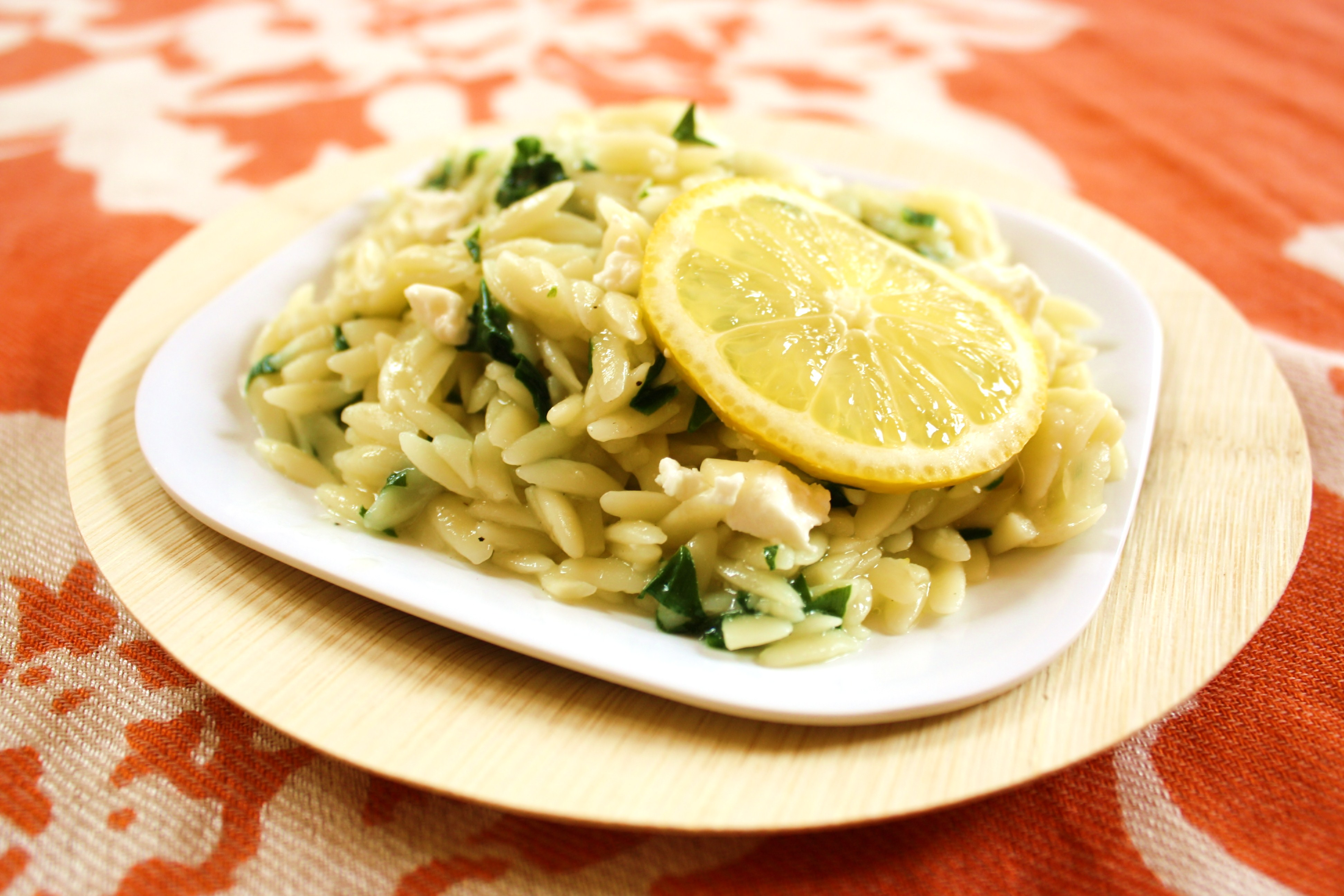 Orzotto with Spring Ramps &amp; Goat Cheese