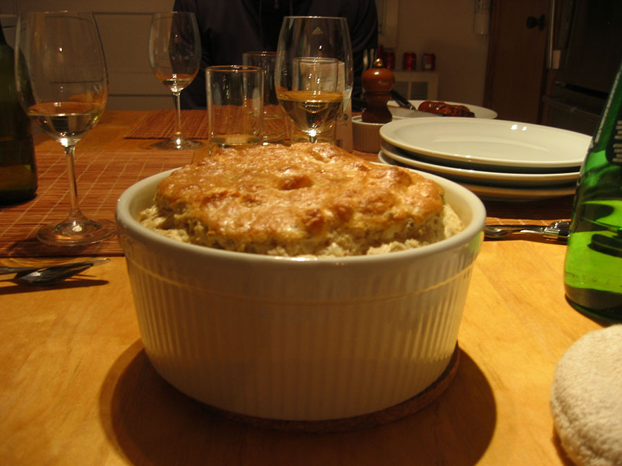 Artichoke and Emmental Soufflé