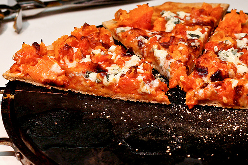 Buffalo Sweet Potato &amp; Blue Cheese Pizza